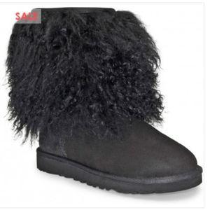 NWT Ugg mongonlian sheepskin cuff furry boots